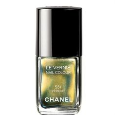 Chanel Le Vernis Limited Edition in Peridot - sort of like having beetles on your fingers only really pretty.