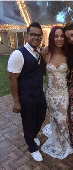 On August 4, 2016, WWE Diva Sasha Banks (Mercedes Kaestner-Varnado) married her boyfriend Sarath Ton, known as Kid Mikaze, a fellow professional wrestler who works for WWE as a costume designer #WWE #wwecouples #wweweddings