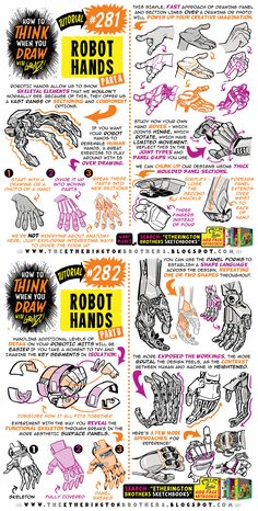 How to THINK when you draw ROBOT HANDS tutorial! by EtheringtonBrothers on DeviantArt - therezepte sites Digital Painting Tutorials, Digital Art Tutorial, Art Tutorials, Drawing Lessons, Drawing Techniques, You Draw, How To Draw Hands, Art Sketches, Art Drawings