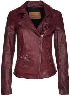 Goosecraft Leather jacket red