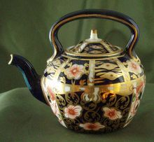 Royal Crown Derby Miniature Imari Teapot on Ruby Lane