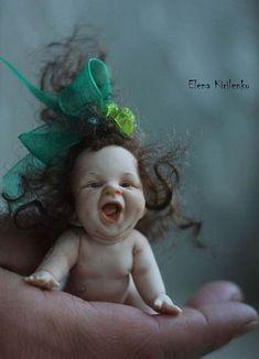 Dolls cannot buy in a toy store Tiny Dolls, Ooak Dolls, Reborn Dolls, Cute Dolls, Clay Fairies, Baby Fairy, Clay Baby, Polymer Clay Dolls, Fairy Art