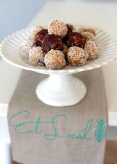 Truth be known only pinning because the name made me laugh out loud - Raw Peanut Butter Balls :)