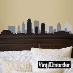 Kansas Missouri Skyline Vinyl Wall Decal or Car Sticker SS099