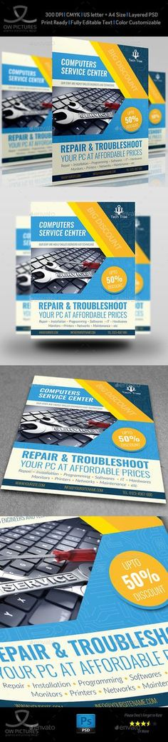 Smartphone Repair 6 Flyer\/Poster Psd templates, Smartphone and - computer repair flyer template