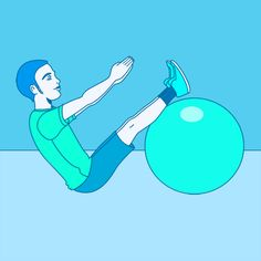 Use a Stability Ball For a More Challenging Plank