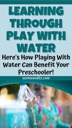 Water play activities for preschoolers are not just fun ways to fill the day. These sensory activities are a great way for young children to learn. Find out the many activities a preschool child can do with water and the skills they will learn! Preschool Learning Toys, Learning Time, Play Based Learning, Learning Through Play, Toddler Preschool, Learning Resources, Outdoor Activities For Toddlers, Quiet Time Activities, Motor Skills Activities
