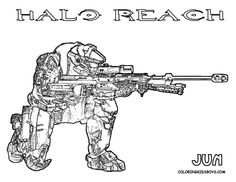 Printable Halo Coloring Pages For Kids For the Kid Pinterest