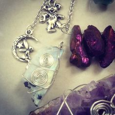 https://www.etsy.com/shop/TheFaerieMines  https://www.thefaeriemines.tumblr.com  #moonstone #rough #raw #natural #amethyst #grateful dead #pixie #fairy #moon #crescent moon #wire wrap