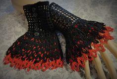 Black Red Victorian Steampunk Victorian Noir by Scarletrabbit, $20.00