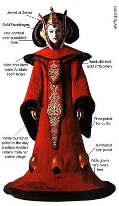 Amidala Star Wars, Star Wars Padme, Rey Star Wars, Star Trek, Star Wars Costumes, Movie Costumes, Rainha Amidala, Queen Amidala Costume, Disfraz Star Wars