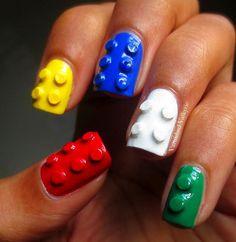 Varnished Valkyrie: 3D Lego Nails!.
