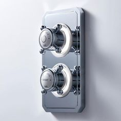 New Crosswater Belgravia Dual Outlet Digital Shower Valve - Designed for two shower outlets.