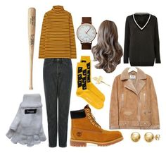 """Nancy - Stranger Things (Outfit 2)"" by samsnotordinary ❤ liked on Polyvore featuring Uniqlo, Timberland, Henrik Vibskov, Acne Studios, Everlasting Gold and River Island"