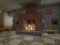 Honestly i know how to build a fire place... i olny pinned this for the chair in the backround