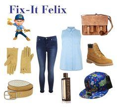 """Fix-It Felix"" by sfinn ❤ liked on Polyvore"