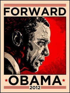"""""""Obama 2012"""" by Tim Doyle"""