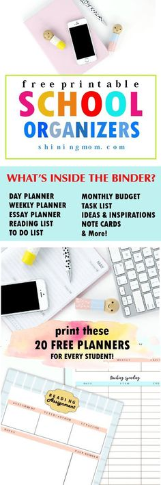 Free Printable Student Planner   PLANNERS   Pinterest   Student ...