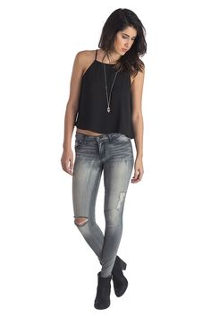 Flying Monkey Cloudy Day Skinny Jeans