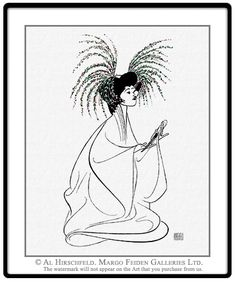 """AL HIRSCHFELD'S portrait of B.D. WONG in M. BUTTERFLY. Hand signed by Al Hirschfeld, Limited-Edition Lithograph, Edition Size: 100, 25"""" (h) x 20"""" (w)"""