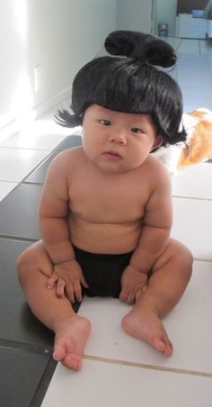 Halloween Costume :: Sumo Baby! So funny. Hahahah! This is funnier bcuz it's an Asian baby! It would be cute for any other ethnicity tho for sure!  And I have a part Asian baby!