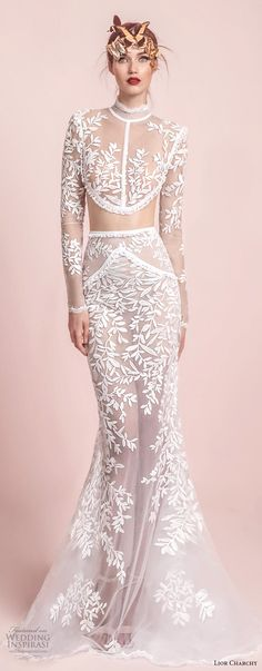 lior charchy spring 2017... OMG, beautiful. For that modern but traditional bride. Get that designer look without the designer $$$, have it custom-made within the budget.