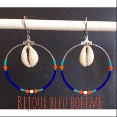 créoles coquillages par Bijoux Bleu Boheme sur Littlemarket