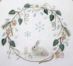 Winter Wreath by flossbox, via Flickr love the rabbit