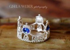 Newborn Crown Boy Crown With Beautiful Blue by SnassyCrafter