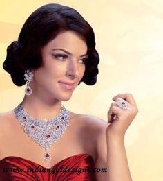Gold and Diamond jewellery designs: diamond jewellery