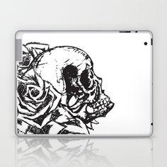 Skull & Roses Variation Laptop & iPad Skin by Noelle Fontaine - $25.00