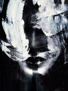 Beautiful Examples of Abstract Expressionism Art Works art portraits landscapes paintings abstract contemporary artwork drawing artist Abstract Expressionism Art, Abstract Art, Example Of Abstract, Ouvrages D'art, Black And White Painting, Black Art, Black White, Abstract Portrait, Oeuvre D'art