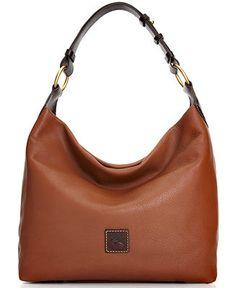 Dooney & Bourke Handbag, Calf Leather O-Ring Hobo - Dooney & Bourke - Handbags & Accessories - Macy's