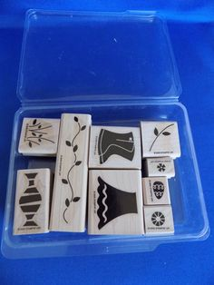 Two-Step Stampin' Flower Filled Set Wood Mounted Rubber Stamp 2005 Stampin Up #StampinUp #Background
