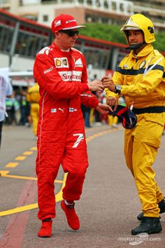 """Raikkonen:""""Thanks for putting out the fire, I'll have a talk with the girls on my boat about playing with the Bacardi 151 from now on!"""""""