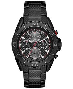 Michael Kors Men's Chronograph JetMaster Carbon Fiber Stainless Steel Bracelet Watch 43mm MK8455 - Watches - Jewelry & Watches - Macy's