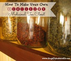Top 10 Herbs for your medicinal herbal tea closet by Frugally Sustainable