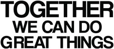 Together we can do great things HANDMADE IN THE USAI create and package every piece of Inspirational Wall Art myself to ensure the highest quality possible for every vinyl decal I sell. That means all the magic happens right here in New York, USA! THE FINEST MATERIALSAll inspirational wall decals are created with Oracal 631 Removable Vinyl Decal Sticker. It is a beautiful matte finish that ensures it is perfect on any flat surface. INSPIRED & MOTIVATEDThese office wall art quotes are created Inspirational Wall Decals, Wall Art Quotes, Business Signs, Business Quotes, Office Wall Art, Office Decor, Volleyball Motivation, Teamwork Quotes, Together We Can