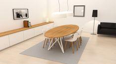 ovalen tafel metalen onderstel - Google zoeken