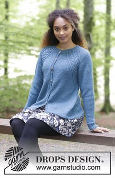 Arendal Cardigan - Knitted jacket with cables and raglan, worked top down. Sizes S - XXXL. The piece is worked in DROPS Puna. Free knitted pattern DROPS 181-25
