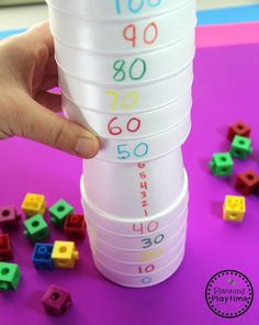 Counting to 100 Activities - Planning Playtime Kindergarten Math Activities, Counting Activities, Preschool Math, Math Games, Teaching Math, Hands On Activities, Ks1 Maths, Math Skills, Math Lessons
