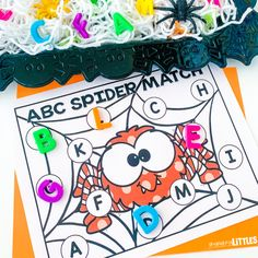 Spider Alphabet Match - Engaging Littles