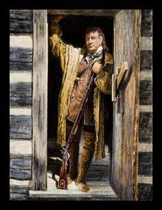 Risultati immagini per doug mccarthy uniformes francaises 1700 prints Steve White, Colonial Art, Great Warriors, Longhunter, American Frontier, Historical Art, Mountain Man, Interesting History, Early American