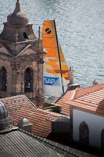 Ce Week End, les Extreme Sailing Series sont à Porto ! [image : Lloyd Image] #ExSS #Porto #Sailing | www.scanvoile.com