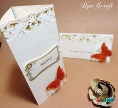 Meniu/Numar de masa Elegant Butterfly