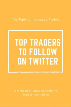 Top Day Trader & Swing Traders On Twitter To Help Make Money
