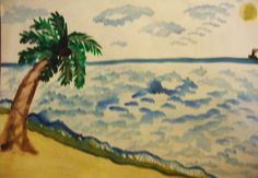 Simple Water Color Beach