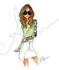 Fashion Illustration Print Summer Vibes by anumt on Etsy