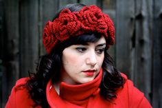 The Catalina Crochet Flower Ear Warmers by rebeccacaridad. So pretty.