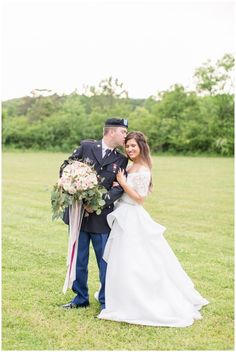 Military Wedding With Coast Guard Uniform Pink White Flowers Lace Dress Topper Bellas Bridal Braided Half Up Down